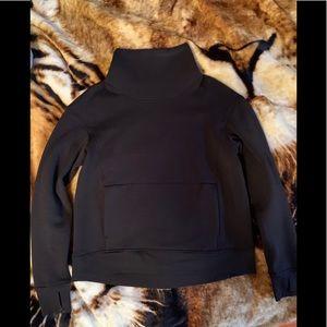 Black lululemon turtle neck hoodie